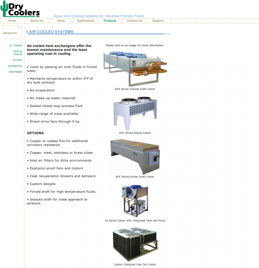 Dry Coolers Landing Page