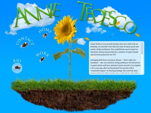 Annie Tedesco Voice Over bio page
