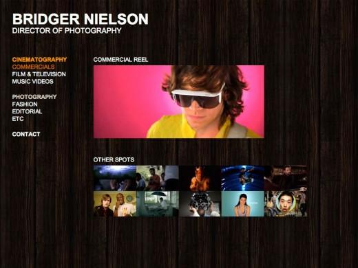 Bridger Nielson Commercials page