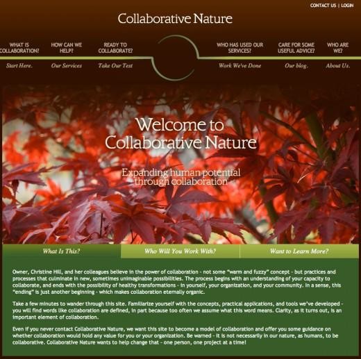 Collaborative Nature website