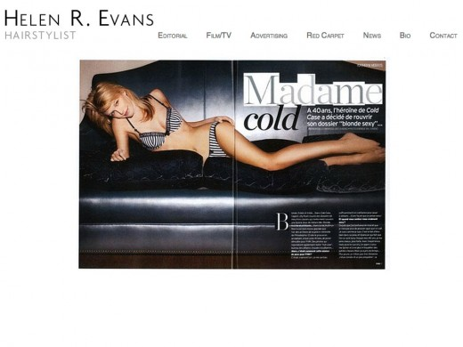 Helen Evans website