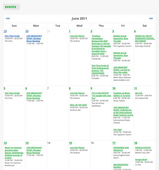 dublab event calendar